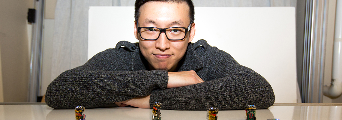 "U of T PhD student builds ""swarm intelligence"" robots"