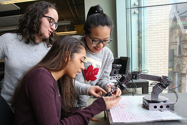 Women make up more than 40 per cent of U of T Engineering first-year class