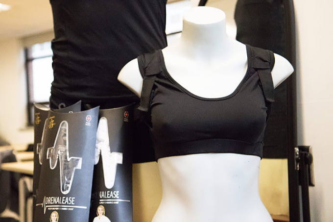 U of T entrepreneur collaborates with MIE researchers to develop a futuristic, posture-enhancing sports bra
