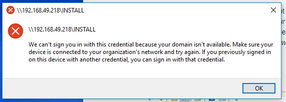 Windows account error