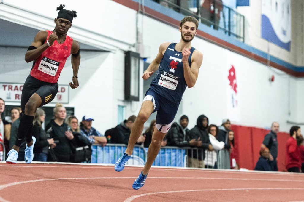 Industrial engineering student Jack Berkshire won a silver medal for the 600m race at the OUA track and field championships, Varsity Blues news