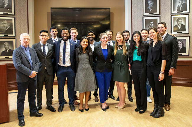 Undergraduate students Kyle Bimm (MechE 1T9), Ana Medinac (IndE 1T8 +PEY) and Rohit Zachariah (IndE 1T8 + PEY) win 2019 Gordon Cressy Student Leadership Awards (U of T Engineering News)