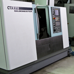 CTX 310 Glidemeister CNC Lathe: 14.5″ swing by 17.5″ between centres, 6,000 rpm spindle & 12 position tool turret