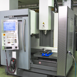 DMC 635 Deckel Maho CNC Vertical Machining Centre: 24″ x-axis travel by 20″ y-axis travel by 19″ z-axis travel, 8,000 rpm spindle & 20 tool Automatic Tool Changer
